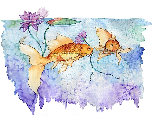 1 koi watercolor copyright