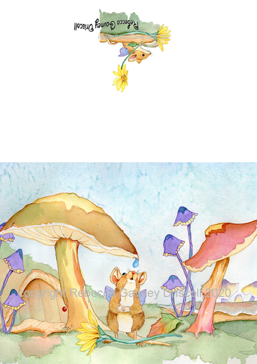 1 mushroom mice greeting card copyright 2