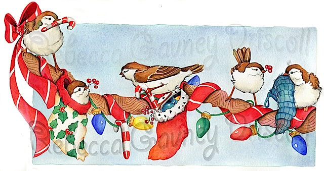 chickadees christmas smaller