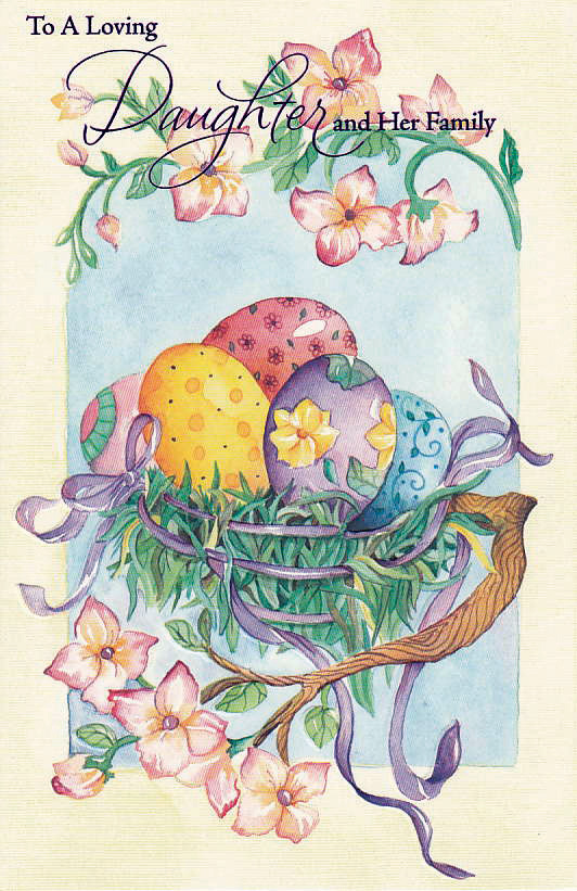 Easter eggsin tree finished card design