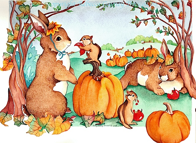 Fall harvest bunnies done copyright