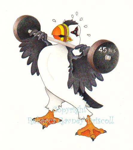 Huffin Puffin update with weights copyright