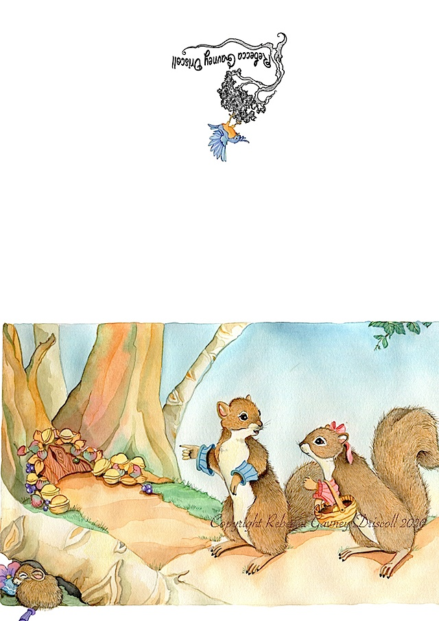 squirrel card layout copyright